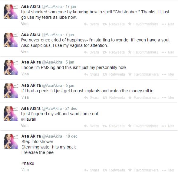 Asa Akira Tweets